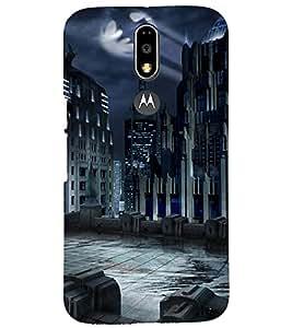 PRINTSHOPPII SCARY CITY Back Case Cover for Motorola Moto G4 Plus