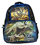 """Jurassic World Large 16"""" Backpack with Lunch Tote"""