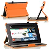 MoKo Slim-fit Cover Case for Google Nexus 7 Android Tablet by Asus, Orange - 並行輸入品