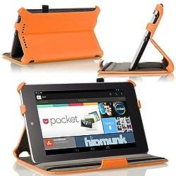 MoKo Slim-fit Cover for Google Nexus 7 Android Tablet, Orange