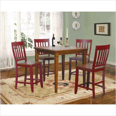 Buy Low Price Lifestyle California Avery Counter Height Dining Table in Cherry (32-741C)