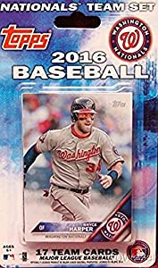 Washington Nationals 2016 Topps Baseball Factory Sealed EXCLUSIVE Special Limited Edition 17 Card Complete Team Set with Bryce Harper, Stephen Strasburg & More Stars & RCs! Shipped in Bubble Mailer!