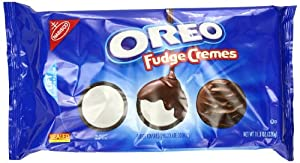 Oreo Fudge Cremes Sandwich Cookies, 11.3 Ounce