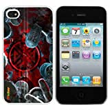 Gruppen von Zombies Modedesign Hard Case Hülle für Iphone 4 4s Iphone4 At & t Sprint Verizon Kleinverpackungs (weiß Pc + Perlglanz Aluminum) fs-0120