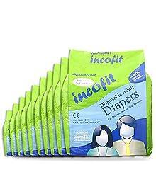 Incofit Premium Adult Diapers-Large, Pack of 100