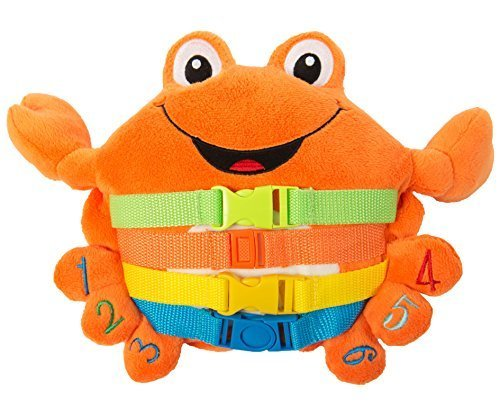 buckle-toy-barney-crab-toddler-early-learning-basic-life-skills-childrens-plush-travel-activity-by-b