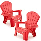 Kids or Toddlers Plastic Chairs 2 Pack Bundle,Use For Indoor,Outdoor, Inside Home,The Garden Lawn,Patio,Beach,Bedroom Versatile and Comfortable Back Support and Armrests Childrens Chairs.5 Colorful Little Tikes Contemporary Colors Make a Perfect Childs Ch