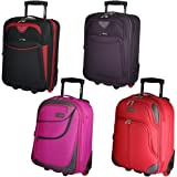 5 Cities Lightweight Cabin Approved Hard Wearing and Light Weight Trolley Wheeled Luggage Bag (18 inch & 21 inch)