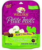 Wellness Petite Treats Soft Mini-Bites Natural Grain Free Small Dog Treats, Lamb, Apples & Cinnamon, 6-Ounce Bag