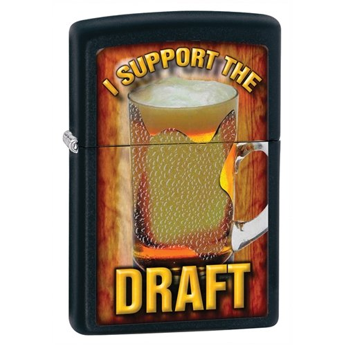 Zippo Support the Draft Black Matte Lighter (Set of 6)