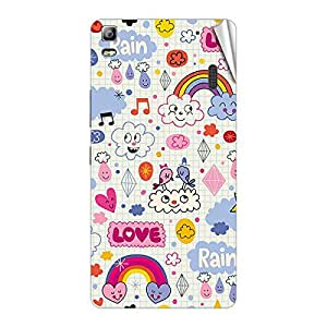 Garmor Designer Mobile Skin Sticker For Lenovo A7000 - Mobile Sticker