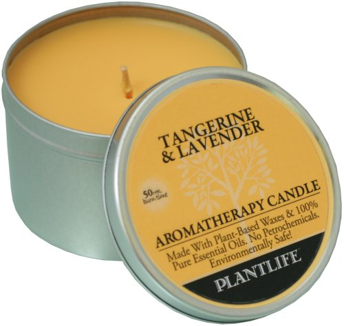 Tangerine & Lavender Aromatherapy Candle- made with 100% pure essential oils - 6oz tin