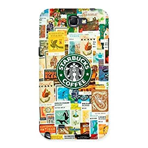 Ajay Enterprises Starbucks coffee Back Case Cover for Galaxy Note 2