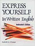 img - for Express Yourself in Written English/Instructors Manual book / textbook / text book