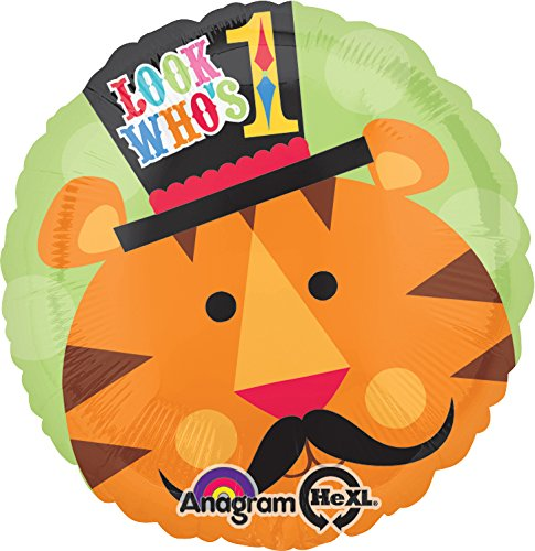 Anagram International Fisher Price Tiger 1st Birthday Foil Balloon Pack, Multicolor