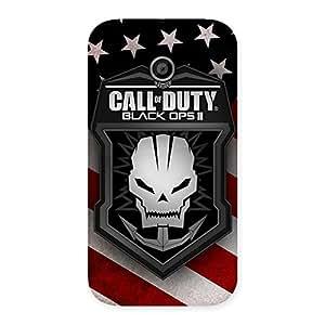 Duty Calling Back Case Cover for Moto E