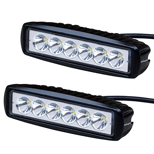 Nilight  LED Light Bar 2PCS 18w Spot Led Pods Off Road Work Light Led Fog Lights Bar Driving led Lights Truck Jeep Lamp Boat Lights,2 years Warranty (Light Bar Package compare prices)