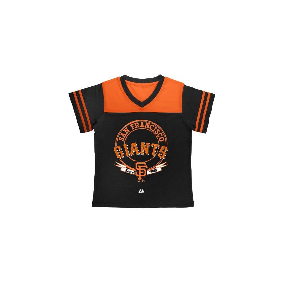 MLB San Francisco Giants Girls Brushback Fashion Top By Majestic
