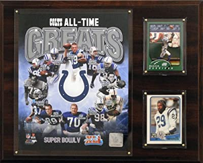 NFL Indianapolis Colts All-Time Greats Photo Plaque, 12x15-Inch