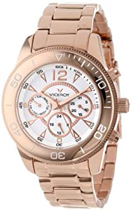 Viceroy Women's 47604-05 Vimar11 Rose Gold Ion-Plated Stainless Steel Dual Time Watch