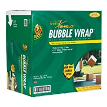 Duck Brand Shock Shield™ Bubble Wrap Protective Packaging with Dispenser Box, 12 inches x 65 feet (862825)