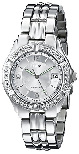 GUESS Women's G75511M Mid-Size Sporty Chic Crystal-Accented