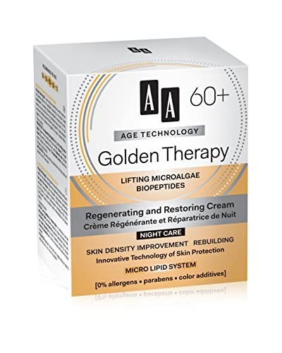 AA Cosmetics Crema de Noche Age Technology Golden Therapy 60+ 50 ml
