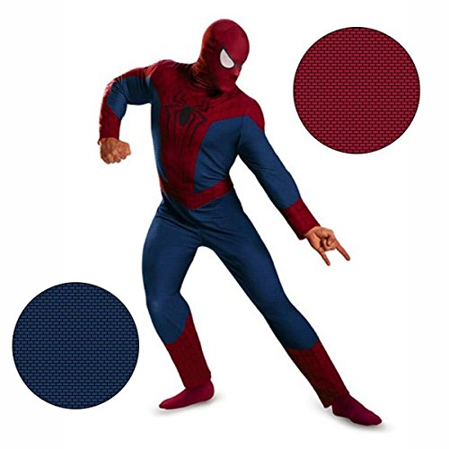 Disguise Men's Marvel The Amazing Movie 2 Spider-Man Classic Costume, Blue/Red/Black, X-Large/42-46