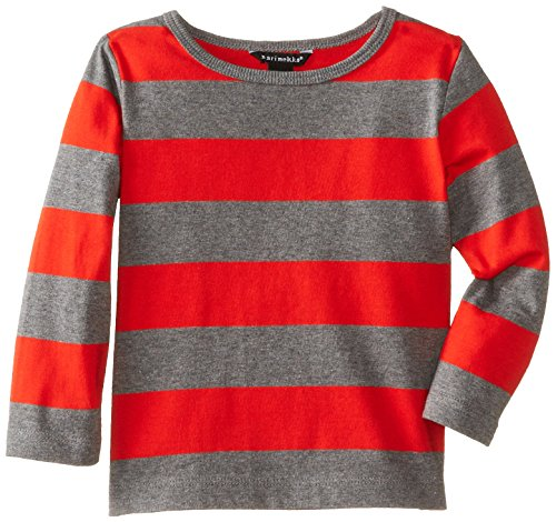 Marimekko Baby-Boys Infant Pallotella T-Shirt, Red/Grey, 24 Month