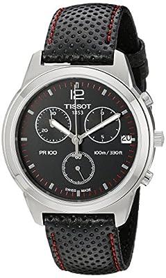 Tissot Men's T0494171605700 PR 100 Black Chronograph Dial Watch