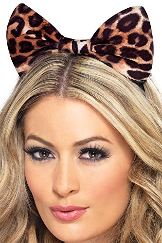 Fever Women's Leopard Bow On Headband On Display Card, Multi, One Size