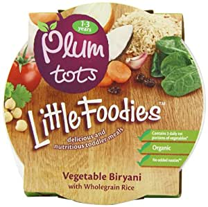 Plum Baby Organic 12 Plus Months Vegetable Biryani with Wholegrain Rice (Pack of 5)