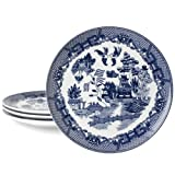HIC Blue Willow 10-1/4-Inch Dinner Plate, Set of 4