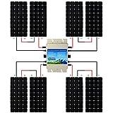 ECO-WORTHY 1200W Grid Tie Monocrystalline Solar Panel Kit: 1200W MPPT Function Waterproof Grid-Tie Micro Power Inverter with 8pcs 160W Mono Solar Panels