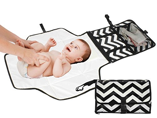 Travel Diaper Changing Pad for Babies - Foldable Mat with Detachable Changing Pad - Baby Bag -Waterproof, Compact & Portable - Excellent Padding for Comfort (Diaper Bag With Changing Pad compare prices)