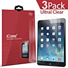 iCarez® [HD Clear 3-Pack] for Apple iPad Air / iPad Air 2 Highest Quality Premium Screen protector High Definition Ultra Clear & anti bacterial & Anti-Oil & anti Scratch & bubble free & reduce fingerprint & No rainbow & washable Screen Protector **PET Film Made in Japan** Easy install & Green healthy Product with Lifetime Replacement Warranty - Retail Packaging 2014