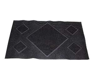 Online Quality Store Online Quality Store Rubber Medium Black Door Mat single