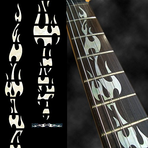 Fretboard Markers Inlay Sticker Decals For Guitar - Fire Flames - Wp