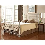 Fashion Bed Group Shabby Chic Lafayette Headboard, Queen, Distressed White