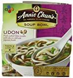 Annie Chun's Udon Soup Noodle Bowl, 174 ml Bowls (Pack of 6)