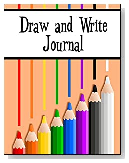 Draw and Write Journal For Kids - Eight colored pencils provide some subtle inspiration and brighten the cover of this draw and write journal for younger kids.