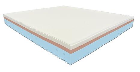 Baldiflex King Matelas Memory Onda Memory 3couches-160x 200cm épaisseur 22cm revêtement déhoussable avec zip Aloe Vera