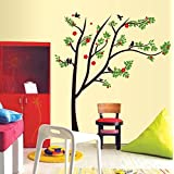 Oren Empower Spring Tree DIY Decorative PVC Vinyl Large Wall Sticker (Finished Size On Wall - 115(w) X 130(h)...