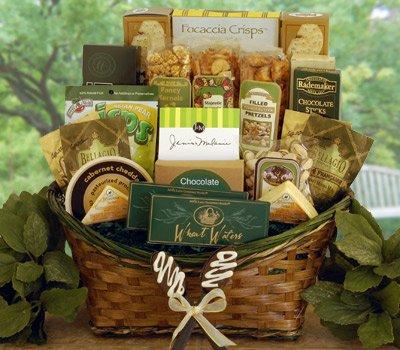 Emeralds and Gold Premium Gourmet Gift Basket