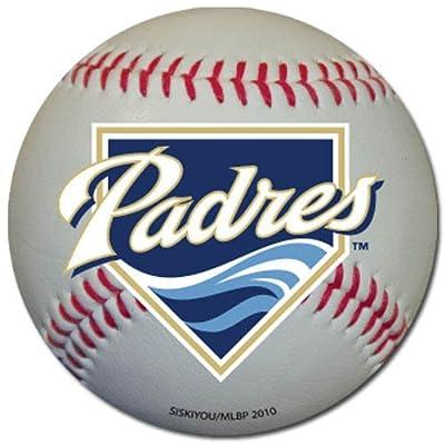 San Diego Padres Baseball Shaped Magnet Large MLB Team for Refrigerator Locker