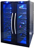 NewAir AW-320ED NewAir Dual Zone Thermoelectric Wine Cooler With Dual Temperature Zones