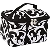 World Traveler Damask Collection Cosmetic Makeup Case