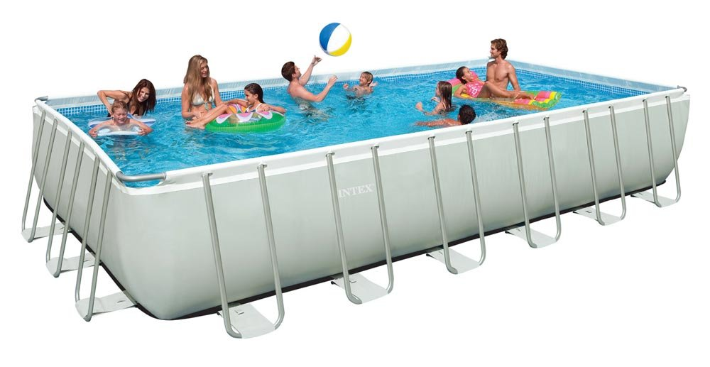 Intex Rectangular Ultra Frame Pool Set 24-Feet by 12-Feet by 52-Inch