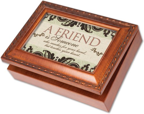 cottage garden friend is someone woodgrain music box jewelry box plays thats what friends are. Black Bedroom Furniture Sets. Home Design Ideas