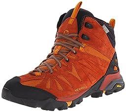 Merrell Men\'s Capra Mid Waterproof Hiking Boot, Dark Rust, 12 M US